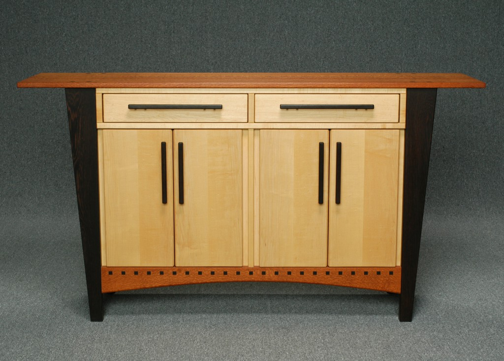 cabinet with tapered legs