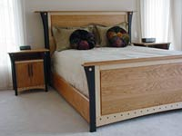 Queen Sized Bed and Nightstands