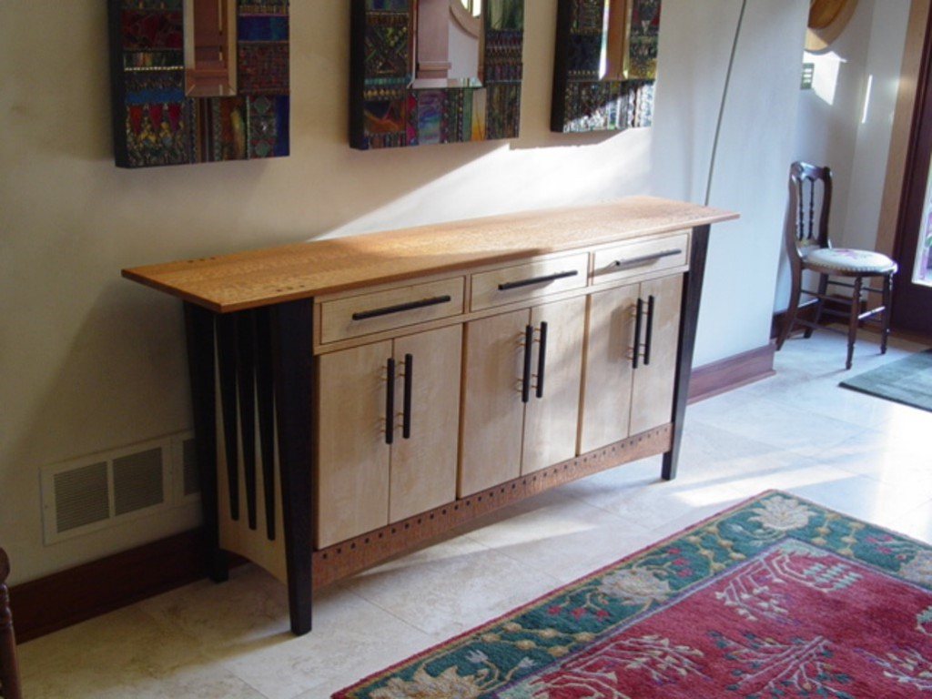 Cabinet with Tapered Legs 2
