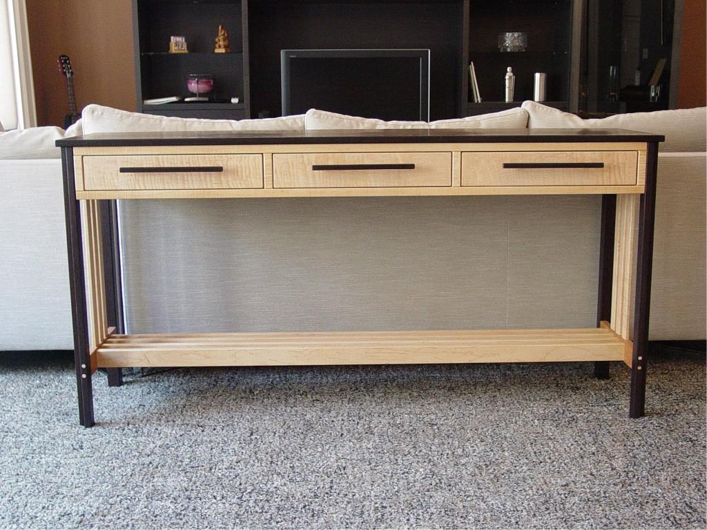 Three Drawer Sofa Table
